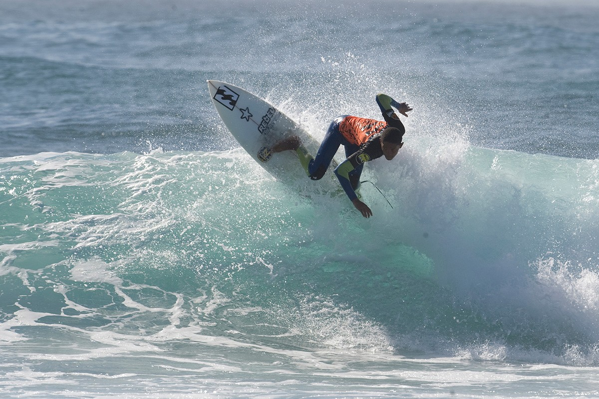 Local JBay surfer Joshe Faulkner will be competing in this year's inaugural Billabong Junior Series presented by BOS event 1 at Magna Tubes. © Kody Mcgregor