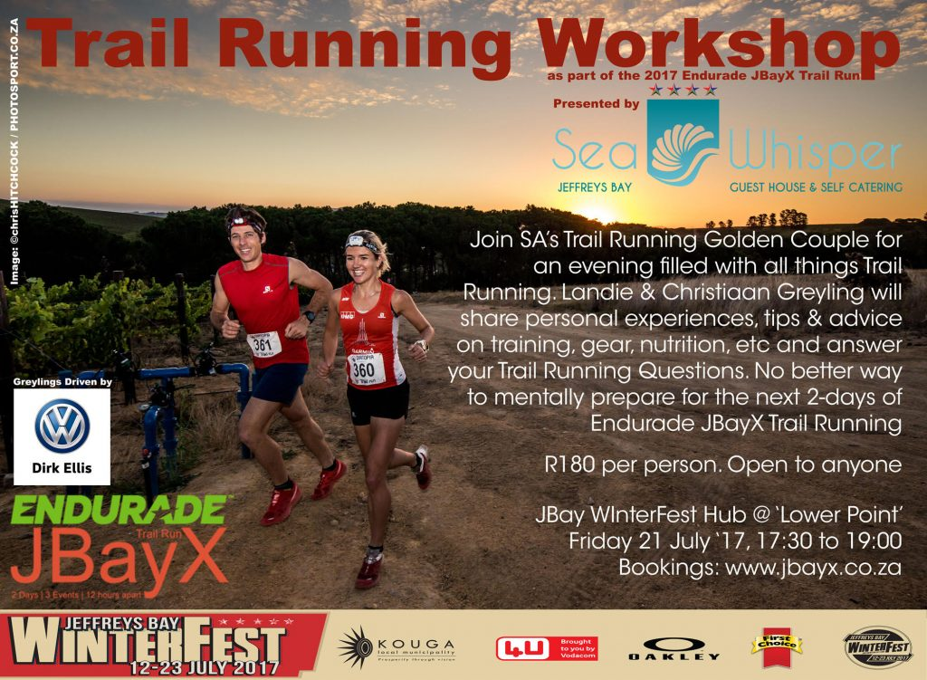 Trail Running Workshop Friday 21 July 2017