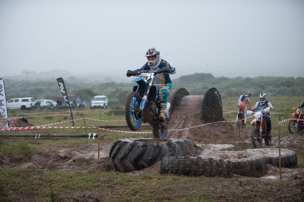 Wet and muddy times at the popular JBay Funduro © Kody McGregor