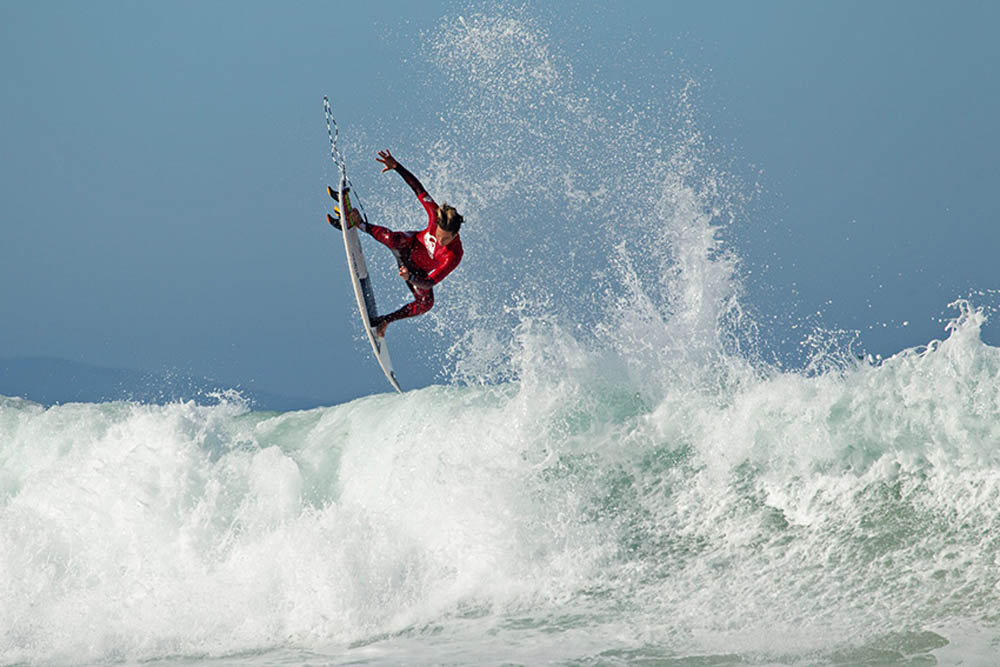 Complimentary image: Sebastian Williams (Durban) won the under 16 division of the inaugural Quiksilver J-Bay Junior Pro held at Magnatubes, Jeffrey's Bay.       Photo by Luke Patterson. High resolution image available on request.