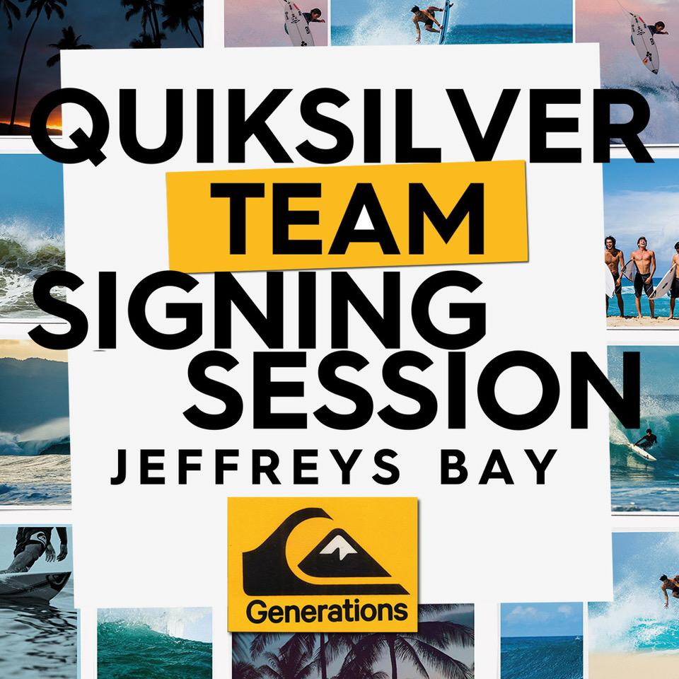 Quicksilver Team Signing