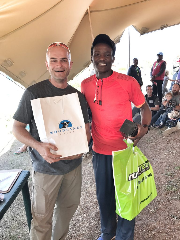 Rieghaard and overal winner Mvuyisi Gcogco - Image captured by AD