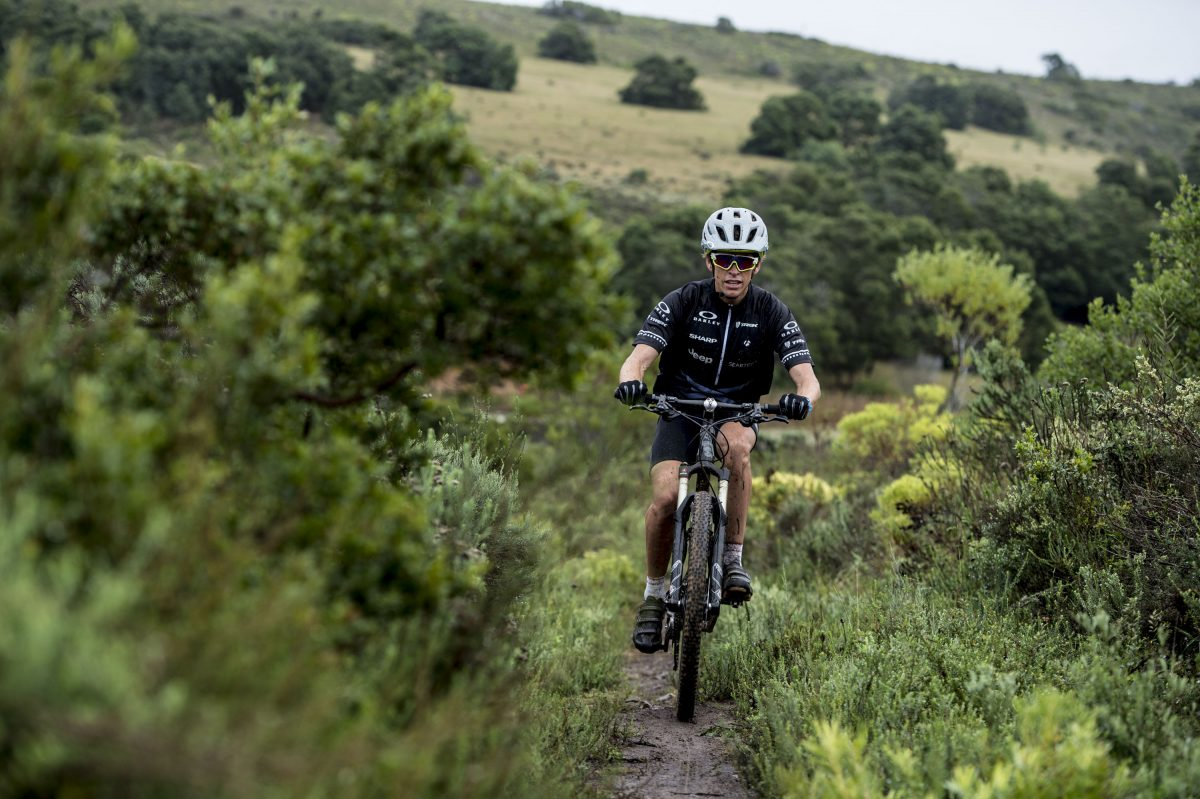 Ryan Sandes on the MTB course in 2015 (c) Kolesky/Nikon/Lexar