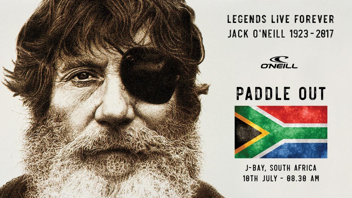 Jack O'Neill Memorial Paddle Out In JBay To Honour Legendary Waterman