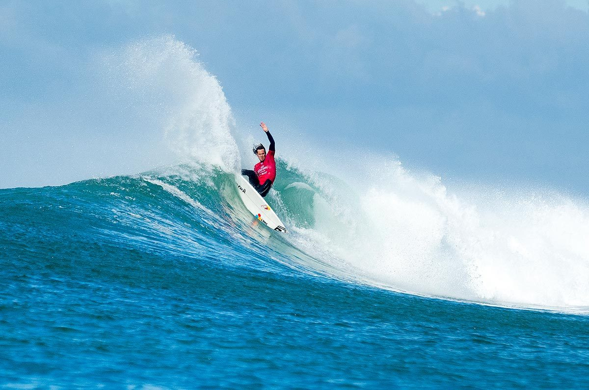 Jordy Smith is surfing in fine form, but had a tough heat against Coffin. Photo: WSL/Kelly Cestari