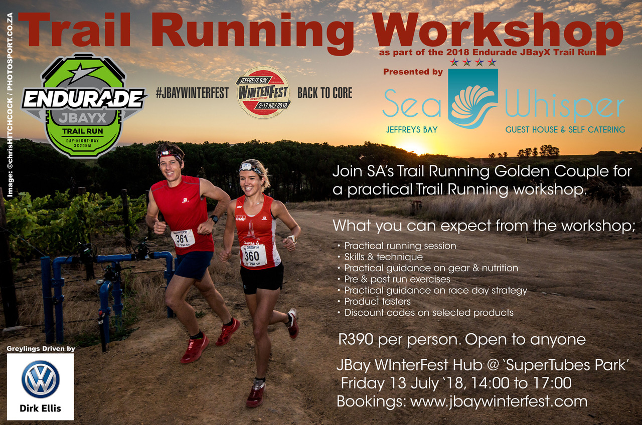 Book your spot at the Trail Running Workshop at www.jbayx.co.za